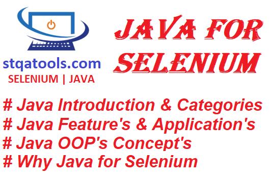 Java for Selenium WebDriver