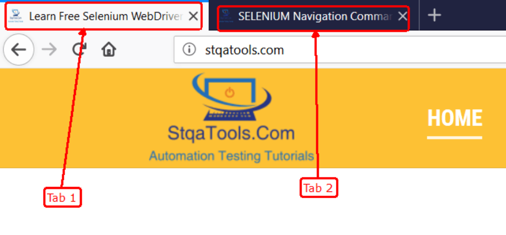 SELENIUM Window Tab Handle Using Selenium WebDriver